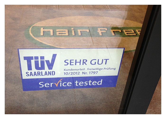 TÜV-Reifeprüfung für hairfree