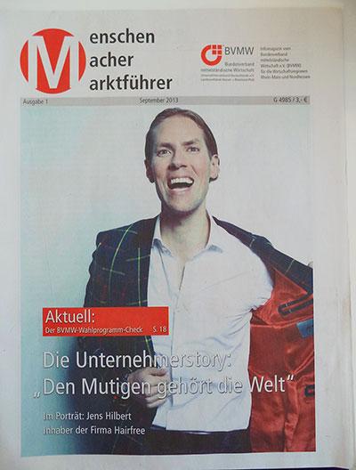Jens Hilbert Erfolgsstory im BMVW Magazin