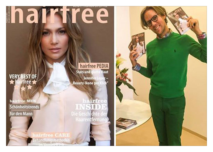 hairfree Magazin mit JLo Cover