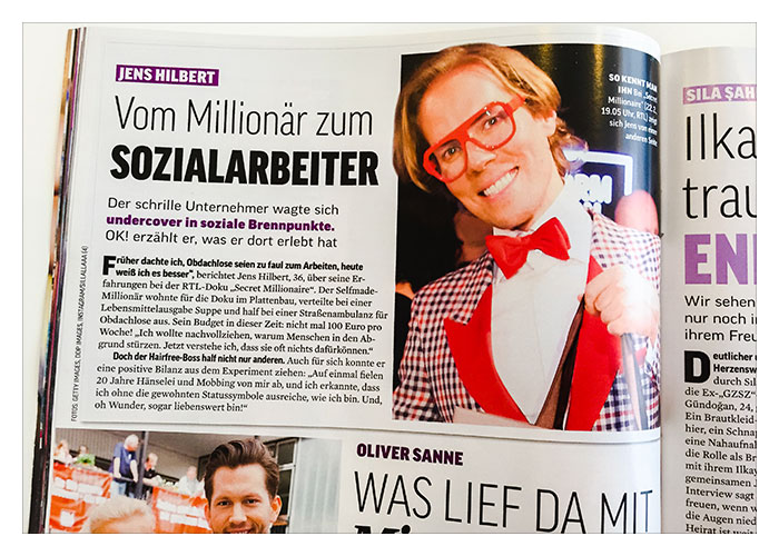 Ausstrahlung RTL Format Secret Millionaire