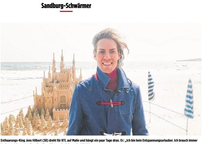 "Bild.de berichtet ""VIPs machen Urlaub!"""