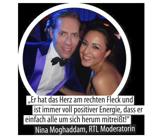 Nina Mogghadam und Jens Hilbert