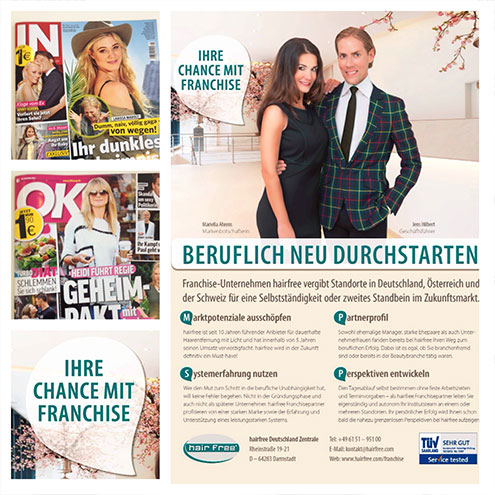 hairfree Kooperation mit OK! und IN Magazin