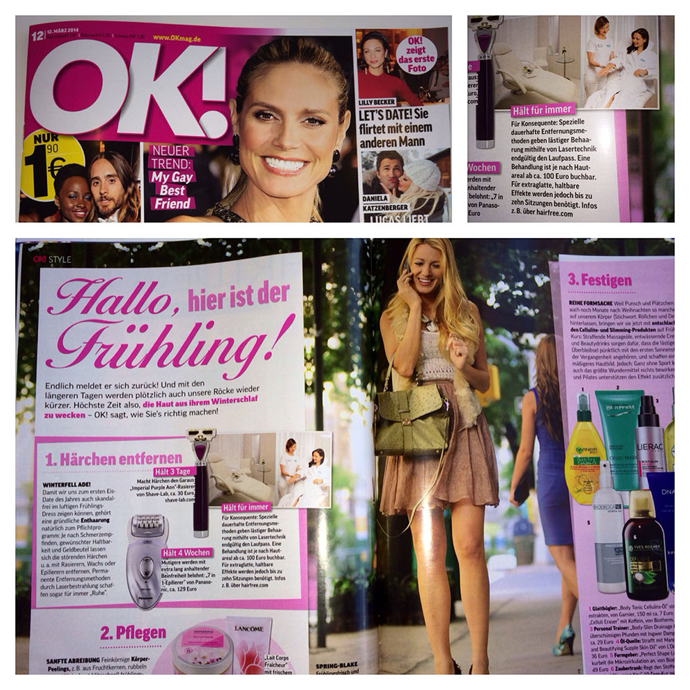 hairfree I'm OK! Magazin