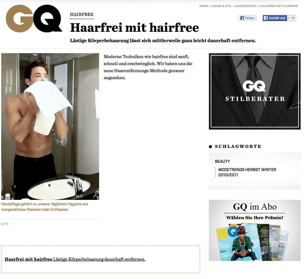 GQ Test: Dauerhafte Haarentfernung